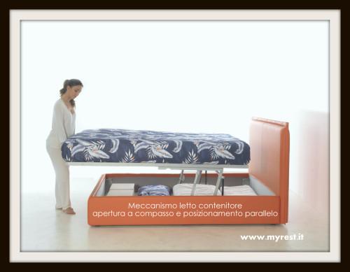 Meccanismo letto contenitore - Sistema per letto contenitore ...